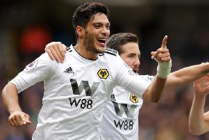 Wolves striker Raul Jimenez. Picture by Getty Images