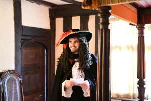 King Charles II waiting to greet his subjects at St Mary's House in Bramber