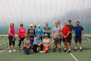 Chichester members enjoy the visit from the Davis Cup duo and Bright Ideas charity