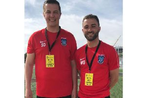 Goalkeeping Coach and Recruitment Head Scott Dutton and the Academys Assistant Head Coach Will Grocott