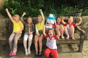 Members of the 1st Ardingly Brownies and Rainbows are delighted at the return of their stolen scarecrow SUS-190524-144202001