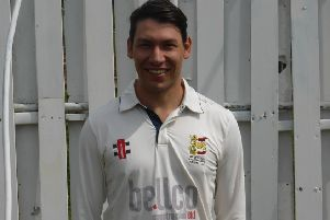 Ricardo de Nobrega starred with the bat for Hastings Priory against Little Common Ramblers and Eastbourne
