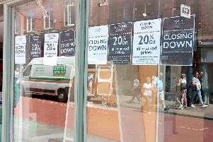 Signs have appeared on the store's window today, informing shoppers that it is holding a 20 per cent closing down sale.