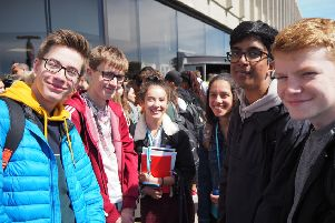 Collyer's students at the UCAS Exhibition