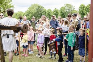 Visitors of all ages enjoyed various events for Roman Week