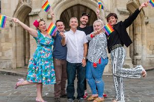 (L-R) Dawn Gracie, Chris Wood, Stuart McGinley, Darran Seacombe, Ashlie Bedwell and Melissa Hamilton. Photo: Goble Photography
