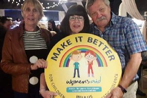 A quiz night was held in Dobbins Inn, Carrickfergus, for Women's Aid ABCLN as part of the charity's Make It Better Week. The evening was kindly hosted by quizmasters Maureen and Derek Fallis, pictured here with Brenda Leslie from Women's Aid ABCLN, and raised �571 for children affected by domestic violence.