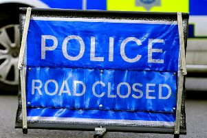 Police have closed the A272