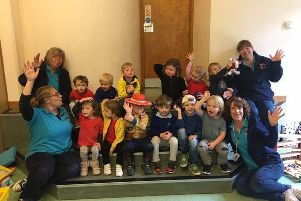 Holbrook Community Preschool celebrate outstanding Ofsted