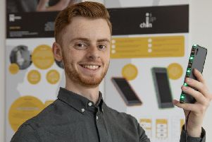 Joshua Taylor invented the Chin Up mobile phone app to help people suffering from neck and back injuries caused by hunching over their phones.