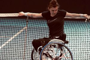 Wheelchair tennis player Lauren Jones is one of the inspirational speakers for the trust workshop