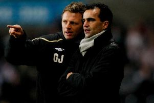 Graeme Jones in his days as a number two to Roberto Martinez