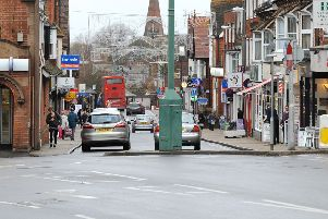 Naser Bajwa had been parked outside bars in Church Road, Burgess Hill (pictured)