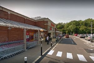 A 40-year-old man died outside Sainsbury's supermarket, in John Macadam Way, St Leonards. Picture: Google SUS-190507-115005001