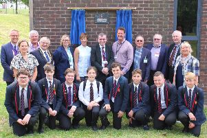 A commemorative plaque was unveiled by the William Parker Foundation. Present were Yvonne Powell  (executive principal); Stephanie Newman (principal); Cllr Mike Edwards; Cllr Martin Clarke; Cllr Andy Batsford; Michael Foster; Gareth Bendon, from the William Parker Foundation; School Governors; the mayor and deputy mayor of Hastings; and William Parker students.