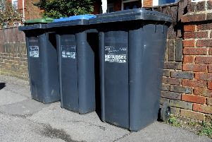 Wheelie bins in Mid Sussex. Pic Steve Robards SR1705373 SUS-170321-155152001