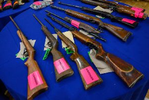 Some of the weapons handed in to Northamptonshire Police. Photo: Northamptonshire Police