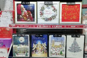 Christmas cards in the Card Factory