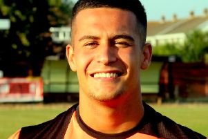 Lewis Boughton couldn't save Pagham at Steyning / Picture by Roger Smith