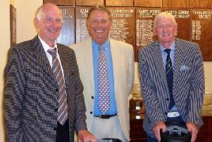 Kenwick Park charity golf day organiser Steve Clarke (middle) with 2016 winners John Hood (left) and John Teanby EMN-190819-144416002