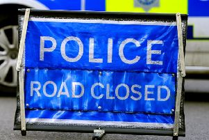 The road has been closed following the crash