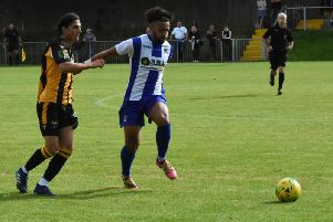 Nico Cotton scored the winner for Haywards Heath Town. Picture by Grahame Lehkyj