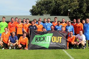 East Dean and Portslade promote the Kick It Out campaign / Picture by Roger Smith