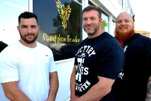 Joint owners Mark Boyce and James Marshall with member of staff Dave Stone. Photo by Steve Robards