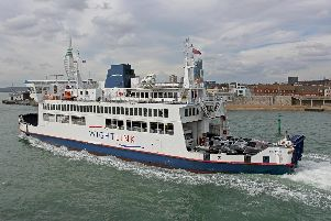 A Wightlink ferry from the Isle of Wight to Portsmouth.