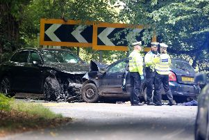 Police say that a man died in a road crash in Horsham yesterday SUS-190913-105136001