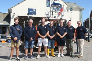 Volunteers at Littlehampton RNLI Lifeboat Station. Photo by Derek Martin DM1984037a
