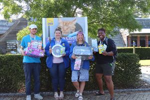 'Pawsitive' work by Worthing youngsters, from left, NCS leader Billy, Paws Protect co-ordinator Rose Abram, Hannah from the Paws Protect team and NCS leader Shauna