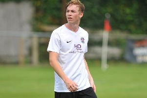 Jack Ryder was shown a red card in Horsham YMCAs heavy 5-0 loss at leaders Eastbourne Town. Picture by Steve Robards