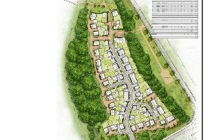 Layout of first 73 homes approved at Whitehouse Farm