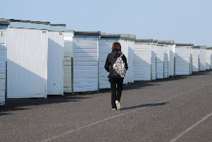 Existing beach huts on Worthing seafront
