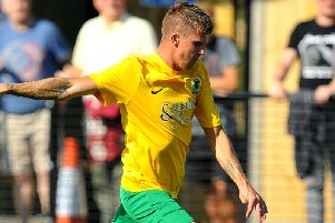 Chris Smith was on the scoresheet for Horsham in their entertaining draw with ten-man Carshalton Athletic. Picture by Steve Robards
