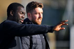 Loxwood boss Alex Walsh (right) and assistant manager Nathan Bowen. Picture by Steve Robards