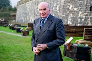 General Lord Richard Dannatt, former head of the army, visiting Forgotten Veterans UK at Fort Cumberland, Eastney, Portsmouth. Here he is pictured at a retreat where there are memorial plants dedicated to those that died in combat and  from a result of mental health trauma.  'Picture: Habibur Rahman