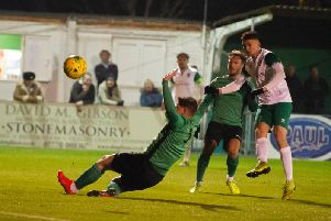 Dan Smith scores his first / Picture by Tommy McMillan