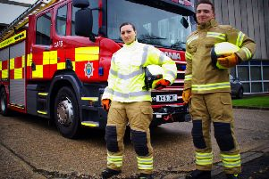 New firefighting kit is one of the ways West Sussex is seeking to improve things for staff