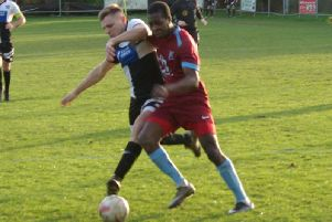Mario Quissacca made one and scored one for Horley at East Preston