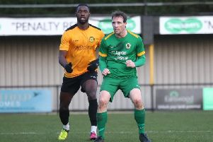 Gary Charman made his 600th Horsham appearance against Merstham. Picture by John Lines