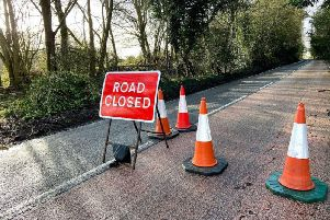 The A24 Worthing Road remains closed