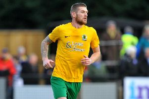 Rob O'Toole (02/12/2019) missed a penalty in Horsham's 2-0 win over Haringey Borough. Pic Steve Robards SR1929326