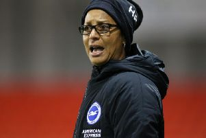 Brighton and Hove Albion Women's head coach Hope Powell