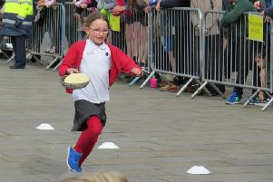 Photo from a previous pancake day race. Photo by Warwick Rotary Club