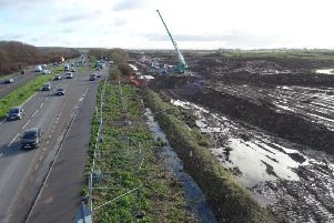 Work to transform New Monks Farm in Lancing into an IKEA and 600 homes is well underway