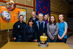 The leadership team of the 4th Horsham Brownies celebrating the group's 50th birthday SUS-200316-091322001