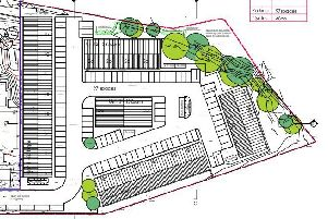 Proposed site layout of the new industrial units