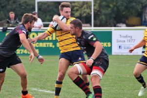 Curtis Barnes bagged a debut try in Worthing Raiders' heavy opening-day defeat at Taunton. Picture by Colin Coulson